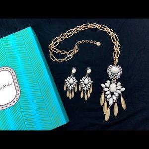 Stella& Dot Mallorca Necklace & Earrings